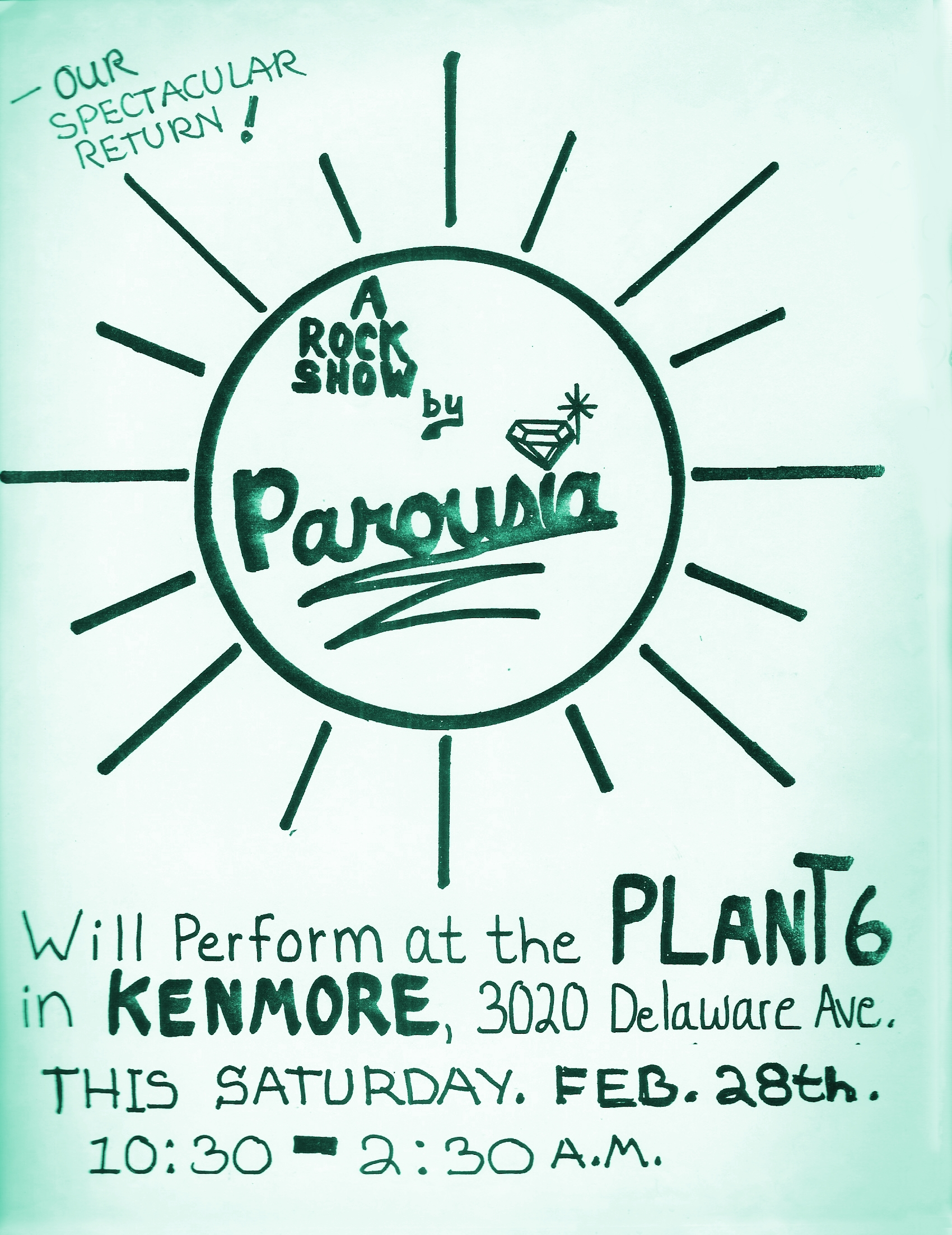 Parousia at the Plant 6 - Saturday February 28th, 1981