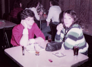 Debbie Sekera & Gerry mingling with the Hollywood crowd. Batavia, NY 12.31.1982