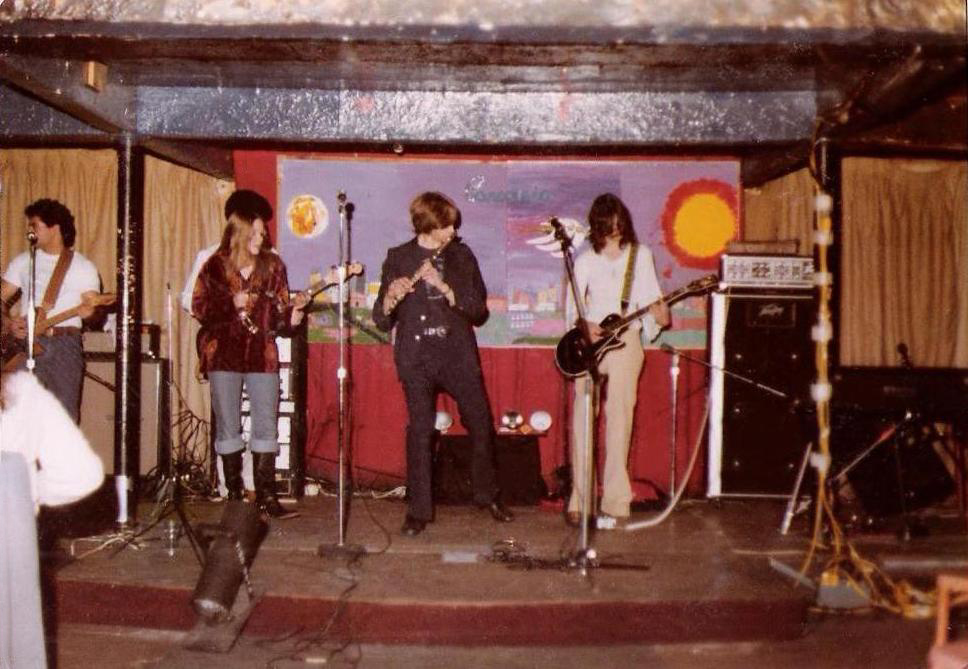 The 'New' Parousia. 1st Gig at McVans 11.22.78 on the 'Big Stage'