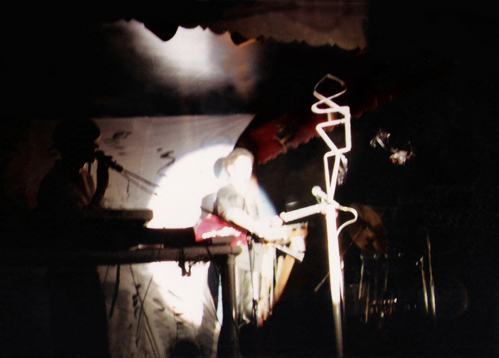 "Parousia performs the ""Art & Science"" show at the Plant 6. Sept. 7th, 1985."