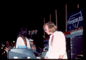 Eric Scheda with Parousia; Riverside park - July 1981
