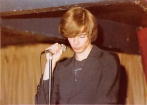 Patt Connolly- Parousia's front man McVan's - Nov. 1978