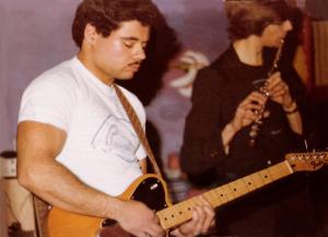 Barry Cannizzzaro with Fender Telecaster. McVan's Nov. 22, 1978