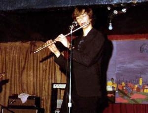 Patt Connolly - The flutist flaunting his flute McVan's - Nov. 1978