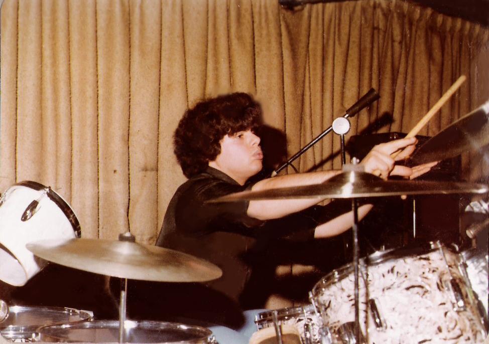 Gerry C. on Kent Drums (double kick drum)