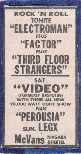 Mc Vans Saturday, August 9th 1980 Buffalo Evening News 'Gusto' advert