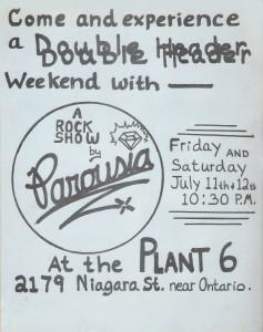 Plant 6 (Niagara Street) July 11th & 12th 1980