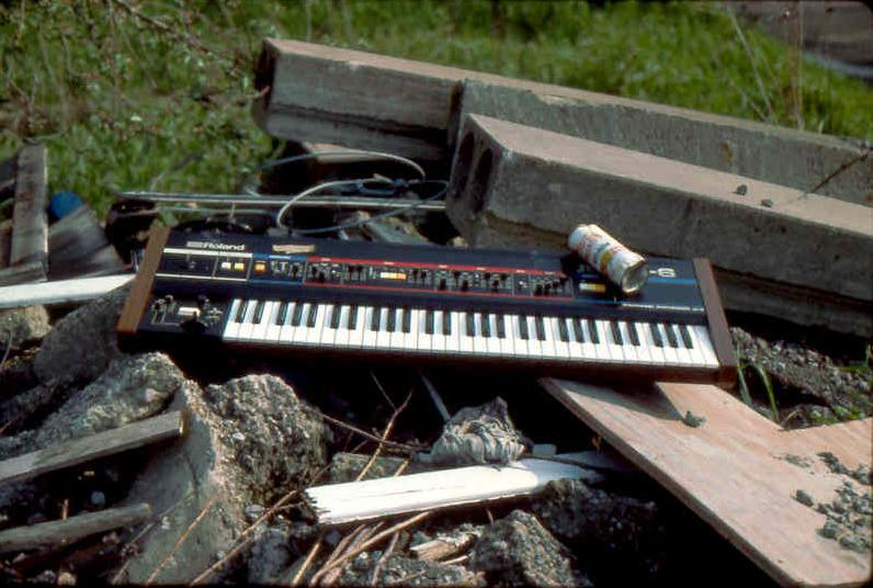 (2) Everything around us was used for our productions -Juno-6 on junk pile
