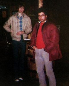 "P. Connolly & B. Cannizzaro at ""the Texas"" bar - Feb. 1982"