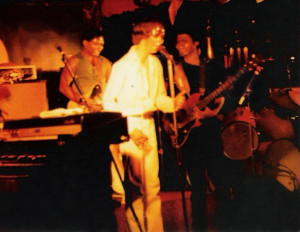 Patt Connolly singing 'CLONES' at the Plant 6, Kenmore Ave.  Sept. 4 - 5th 1981