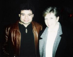 Barry Cannizzaro & friend at Broadway Joe's, Feb. 1986