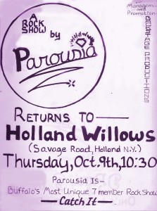 Holland Willows Thurs. 10.09.80 Nightmare Gig- broke foot