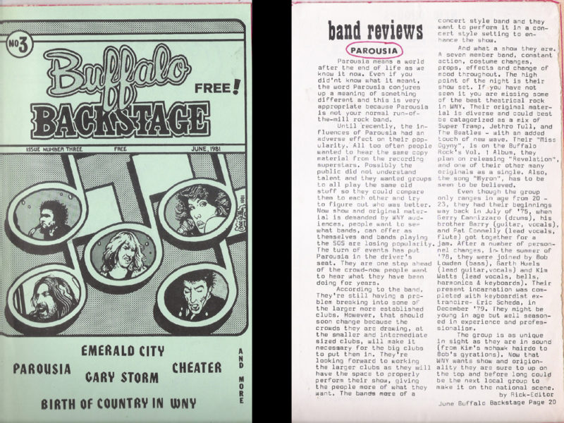 Buffalo Backstage Review June 1981