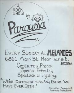 Parousia at Melanies 10.12.1980