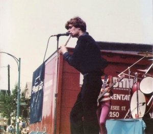 Patt Connolly with Parousia at the Hertel Happening August 1, 1981