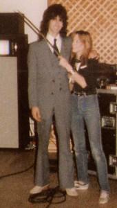 Garth at the Warner Bros. access studio, Dallas, TX - Sept , 1984