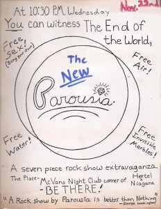 Parousia at McVans- First show at MacVans 11.22.1978