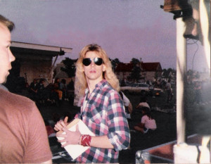 David Lee Roth at Riverside Park June 30th 1984? Nah, it's just Keith.