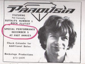 Buffalo Backstage ad December 1981