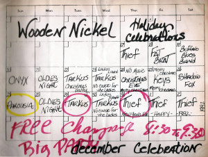 Parousia at the Wooden Nickel, Dec. 27th 1981