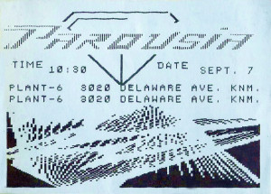 Invite Card- Plant 6_'Art & Science'- 09.07.1985