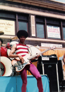 Robert Lowden with Parousia at the Hertel Happening August 1, 1981