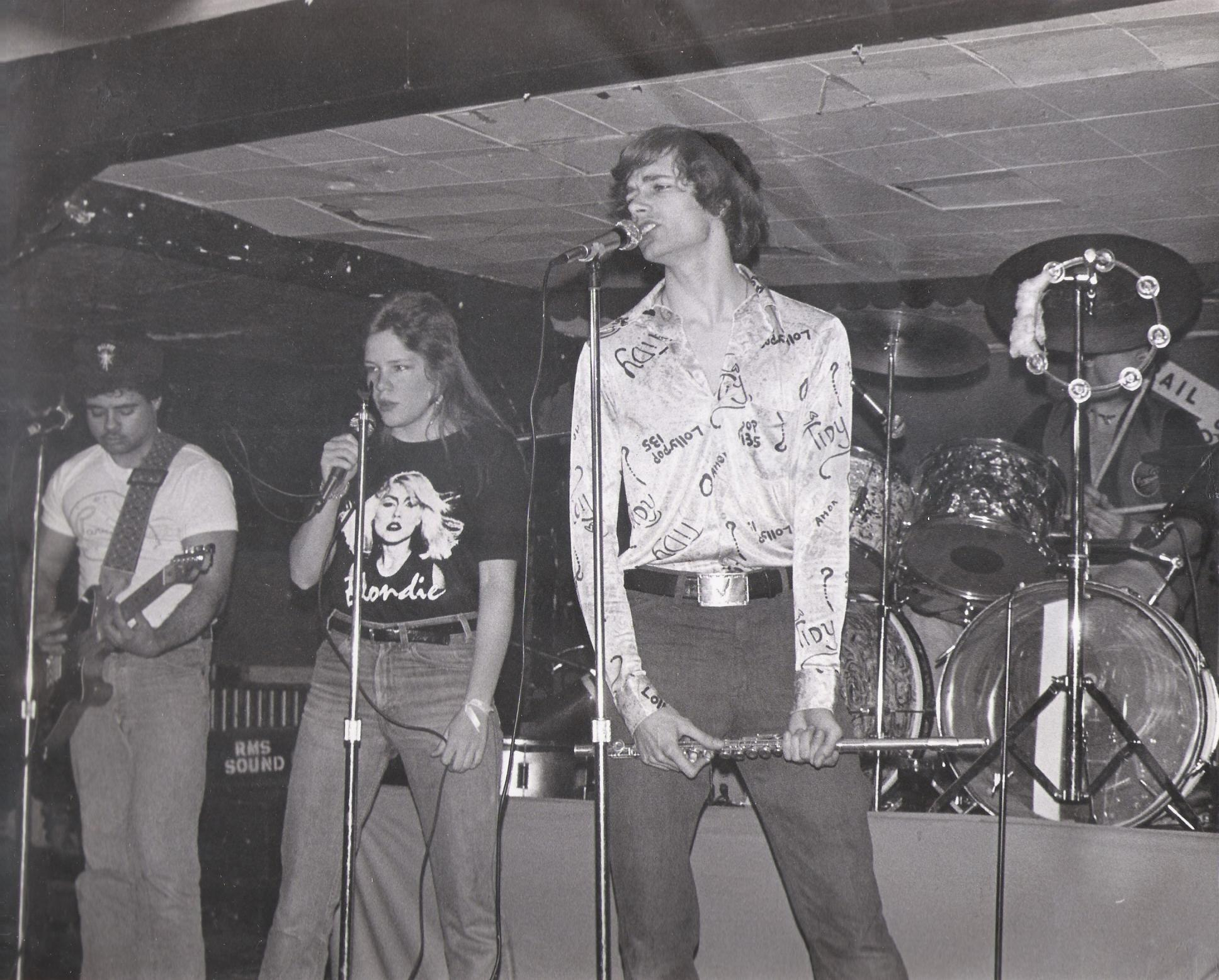 Barry, Kim, Patt and Gerry at McVans 1979