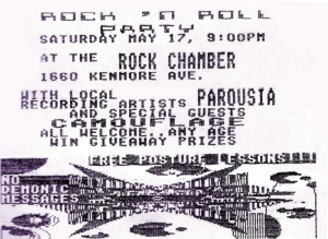 Invite card- the Chamber 05.17.1986