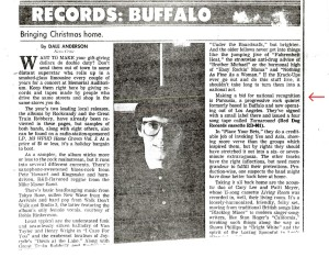 Buffalo News article by Dale Anderson Dec.1987