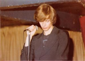 Patt Connolly - Parousia's Front man at McVan's November 22, 1978