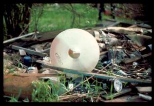 Cymbal on ground