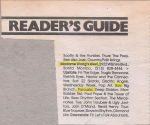 LA Readers Music Guide March 11, 1988