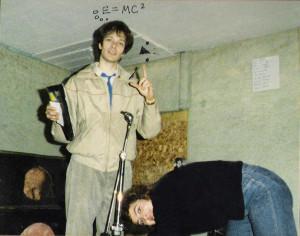 Patt & Claude at Ultimate Storage, Buffalo, NY - January 11, 1986 (Bye Bye Buffalo)