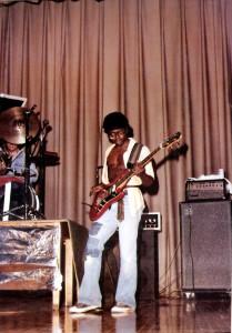 BIlly Simms on Bass Guitar