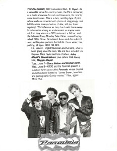 L.A. Weekely Palomino band listing June 1988