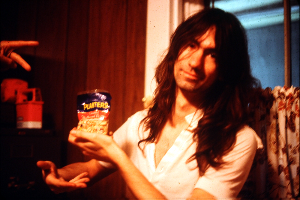 Garth Huels… gets his protein fix on between takes. He's willing to share… THE FOOL doesn't he know we're starving musicians, we'll eat them all!
