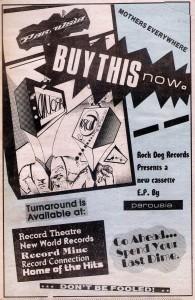 LA Reader Ad for 'Turnaround' EP. March 1988