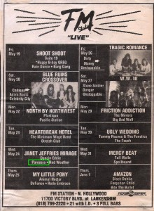LA Weekly Band Listing FM Station Live MAY24 1989