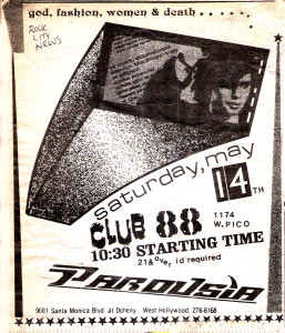 Rock City News Ad for Club 88 May 14, 1988
