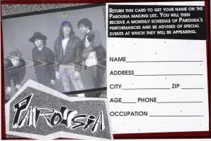 Fan mail card August 1989
