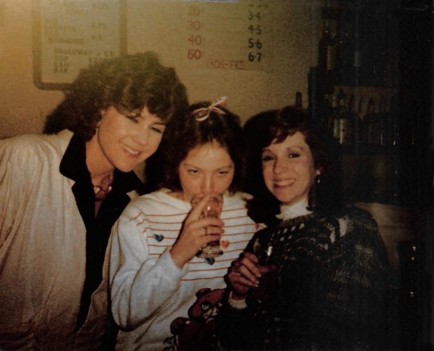 Anne Carncross (left) & friends
