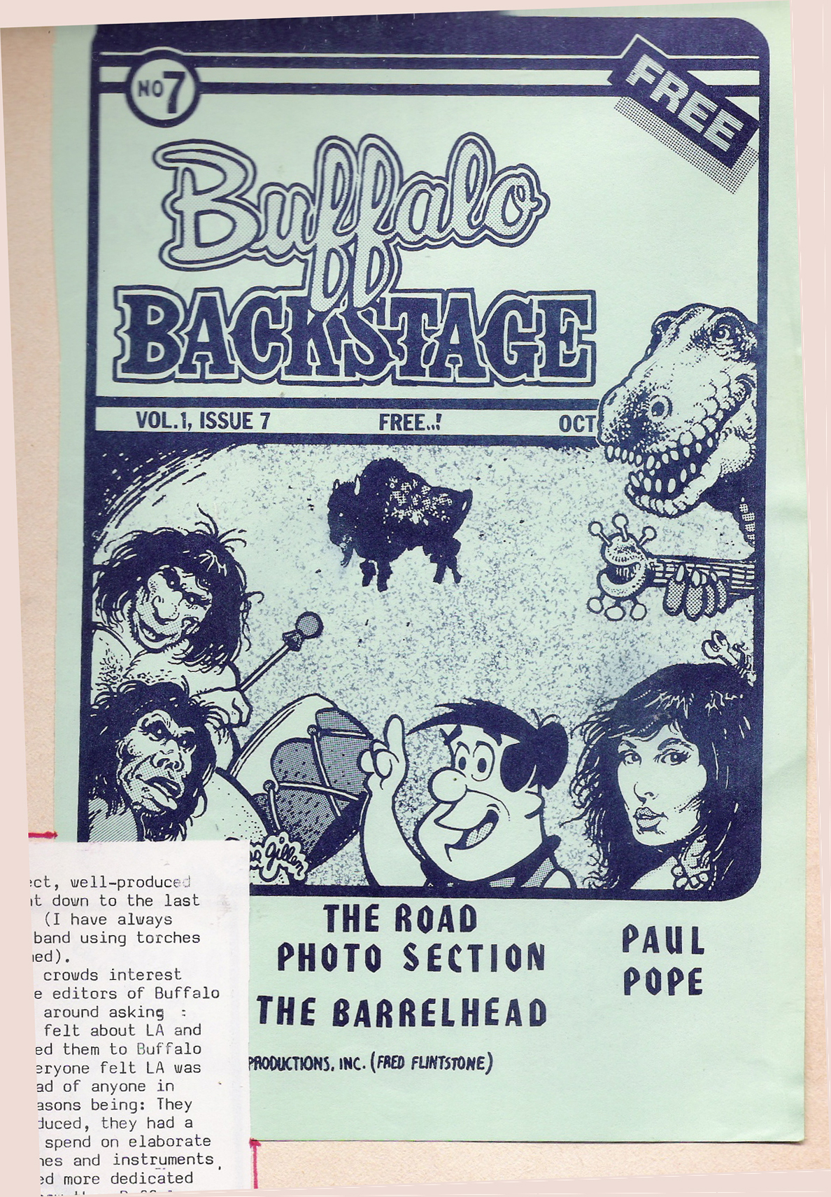 Buffalo Backstage Cover Art Oct. 1981