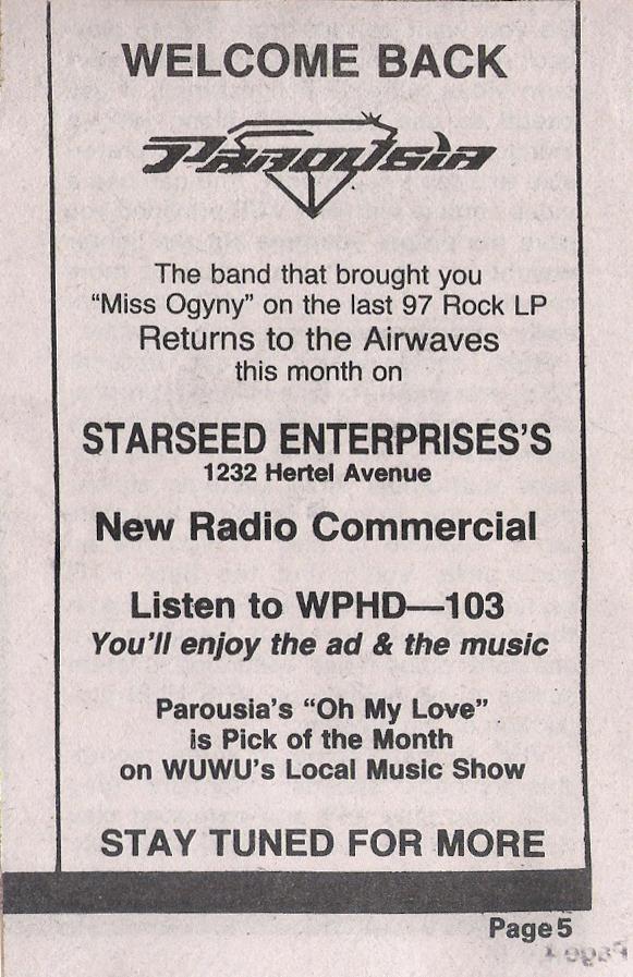 Buffalo Backstage November 1983