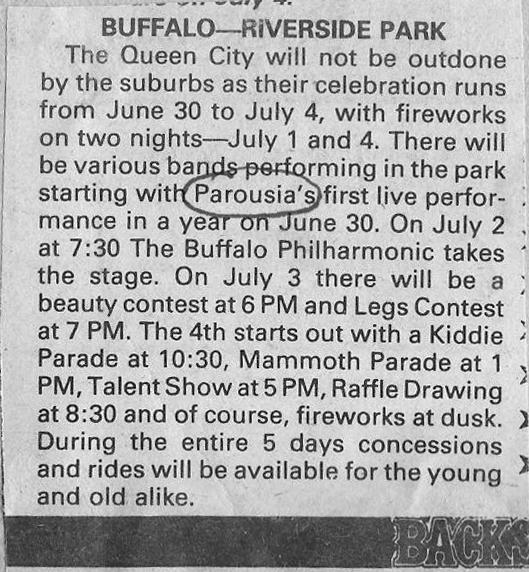 Riverside Park Buffalo Backstage Promo 1984