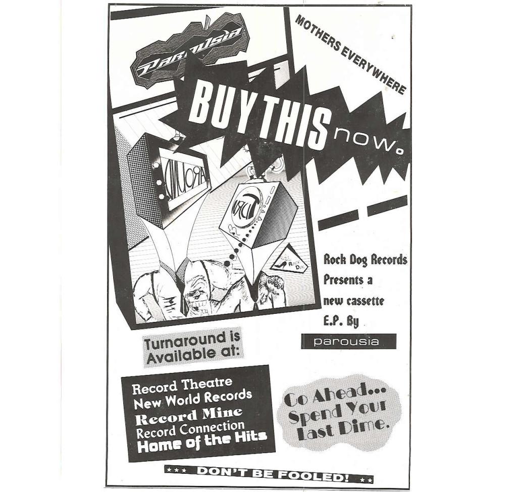 'Turnaround' EP - Buffalo Ad 1988