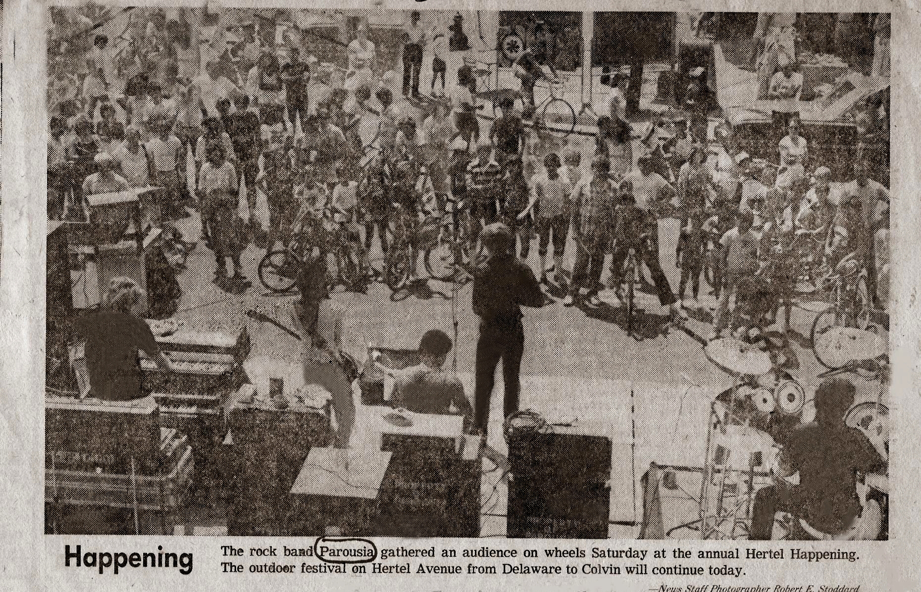Buffalo Evening News  - Hertel Happening 08.01.1981. Delaware to Colvin Ave