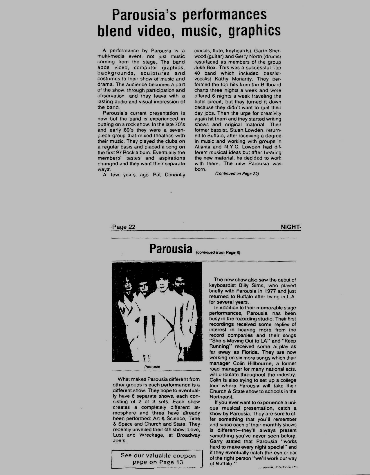 Buffalo Nightlife show review - photocopy -complete 03.24.86