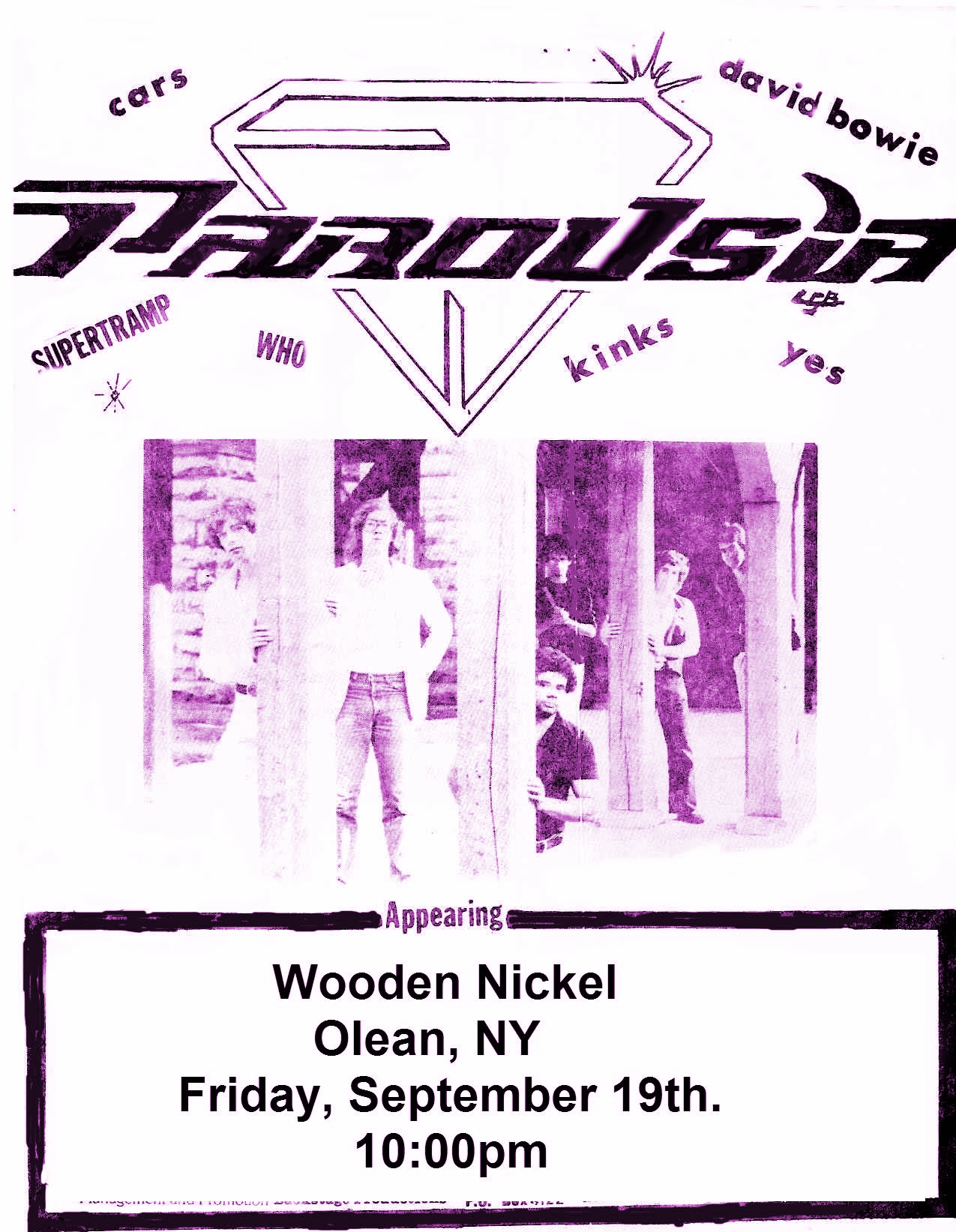 Wooden Nickel Flyer for Parousia