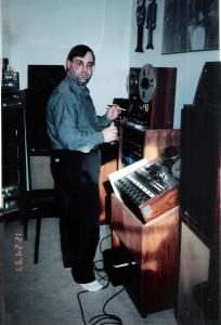 Gregg Filippone in his studio. Clarence, NY; Dec. 24, 1997