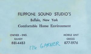 Filippone Sound Studios 1980